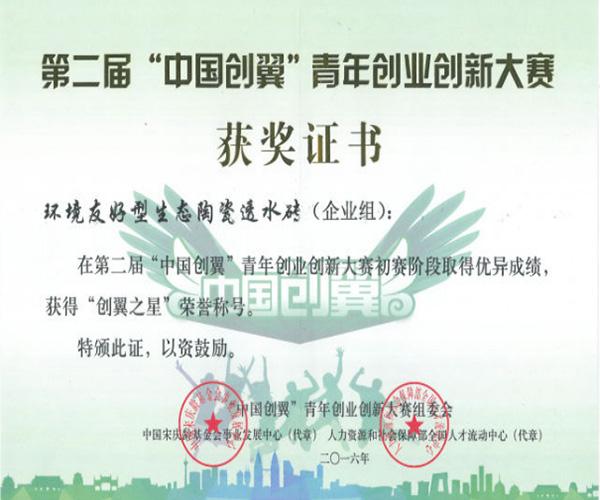 """第二届""""中国创翼""""青年创业创新大赛"""